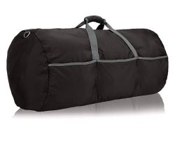 Hot Selling Tarpaulin Black Large Leather Sports Travel Duffle Bag