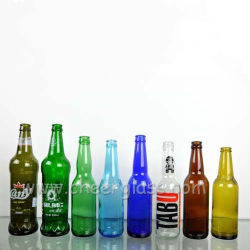 China Supplier 330ml Custom Glass Amber/Blue/Clear Empty Bottle for Beer