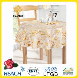 PVC /PEVA Printed Table Cloth With Nonwoven LFGB Oko Tex 100 (TJ0425)