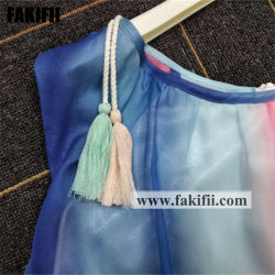 2021 Spring/Summer Children Apparel Baby Clothes Girl Holiday Party Chiffon Dress