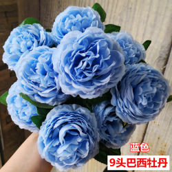 China artificial flower craft artificial flower craft manufacturers bouquet 9 head artificial rose silk flower home wedding table decor craft mightylinksfo