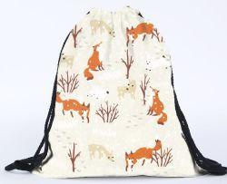 3D Printing Unicorn Drawstring Backpack Bag for Girls, Soft Polyester Gym Drawstring Bag Sport Bag