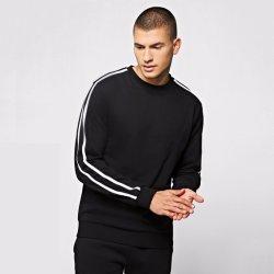 Regular Fit French Terry Unisex Striped Sweatshirt with Custom Logo 932fcb85a176
