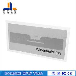 GM 860-950MHz UHF Anti-Tear Fragile RFID Windshield Tag for Car Parking
