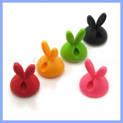 Silicone Cable Holder Earphone Cord Winders Cord Organizer Plastic Wire Clip Holder