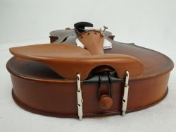 Satin Finish Dark Brown Flame Maple Body Solid Violin Free Case, Bow