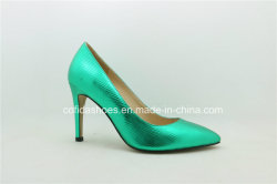 Newest Spark Sexy Green Leather Women Shoe