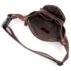 Wholesale Price Good Quality Outdoor Sport Waist Bag Leather Fanny Pack Rn15588