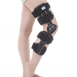 33017ad09b Hinged Knee Brace Support Stabilizer Orthosis Splint Immobilizer Guard  Protector ROM Range of Motion Adjustable Medical