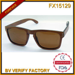 Fx15129 Wooden Sunglasses with Brown Lens