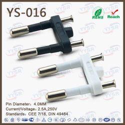 European Style Power Cord 2 Pin 2.5A Europlug
