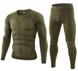 2-Colors Esdy Outdoor Sports Long Johns Seamless Compression Function Thermal Underwear Set