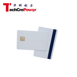 White PVC Cards J2a040 Jcop Smart Cards with Silver Mag Stripe