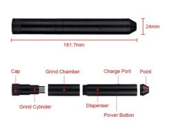 Pensimple Pen Simple Electric Herb Tobacco Grinder Smoking Grinders Kit for Glass Smoking Water Pipe