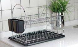 Chrome Plated Wire Shelf Dish Storage Kitchen Rack