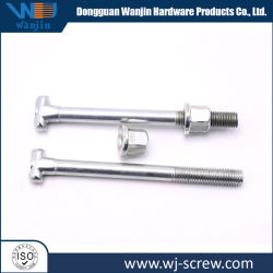 Custom Zinc Plated T Head 8.8 Grade M10 Carriage Bolt and Nut