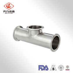 Manufacturer Production Pip Fitting Reduce Tee SS304/316L with 3A Standard
