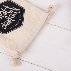 Fabric Packaging Bags, Custom Logo Bags with String for Gift, Decorations