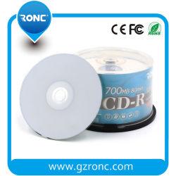 Full Face Inkjet Printable Blank CD-R 52X Factory Wholesale