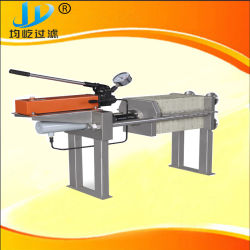 Fruit Juice Processing Plant Manual Jack Pressed Filter Press