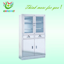 Medical Stainless Steel Apparatus Hospital Cupboard Instrument Cabinet  (SLV D4014)