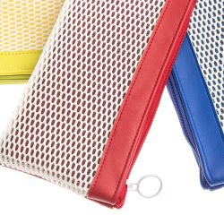 New Product Wholesale Factory Made for Promotion PU and Mesh Zipper Bag of Leisure and Sport Style