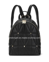 New Arrival Lady Fashion Designer PU Leather Quilting Backpack Handbag  School Bag Casual Bags 5b35b08f86d36