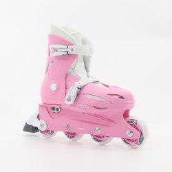 Pink Adjustable Kids Inline Skates En13843: 2009