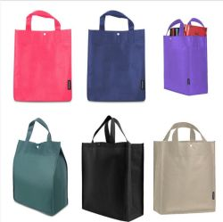 Reusable Grocery Ping Eco Bags Shoulder Non Woven Grab Bag