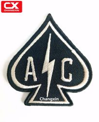 Custom Personalized Letter Logo Emblems Handmade Black Brand Embroidery Patches