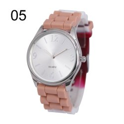 Fashion Quartz Wrist Watches with Colorful Silicone Band (JY-SI026)