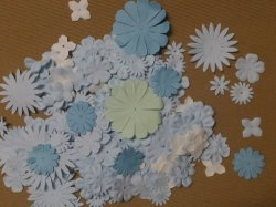 Colorful Paper Flower Brads for DIY Alubm, Scrapbooking Embellishment