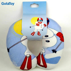 High Quality Custom Stuffed Soft U-Shape Neck Pillow with Foam Beads