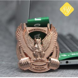 Supply Factory Religious Honor Custom Glitter Award Sports Medal Ribbon