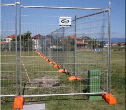 2.1X2.4m Australia Construction Site Galvanized Temporary Wire Mesh Fencing