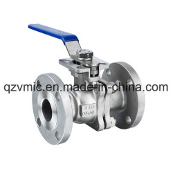 JIS 10K/20K Flange 2PC Two-Piece Full Port Flanged Ball Valve with Direct Mounting Pad Manufacturer Factory