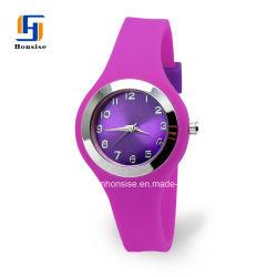 OEM Custom Logo Silicone Analog Quartz Watch with Bright Sunray Dial
