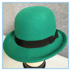 9b3aa5b7d20 Wholesale Fashion Wool Felt Hat Round Top for Lady and Man