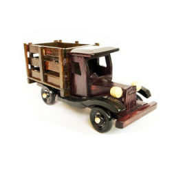 Antique Wooden Toys, Wooden Craft Truck, Craft Wooden Truck