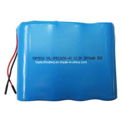 12.8V 2000mAh Cylindrical Rechargeable LiFePO4 Lithium Ion Battery for Lightings