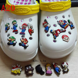 078d4f4278538 Custom Soft PVC Kids Shoe Charms