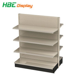 Big Store Gondola Shelving with Perforated Back Panel