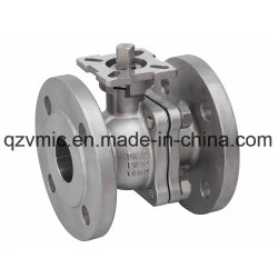 DIN Flanged Anti-Static&Fire-Safe 2-Piece Full Port Pn40 Flange Investment Casted Ball Valve with Direct Mounting Pad Ball Valve Manufacturer/Factory