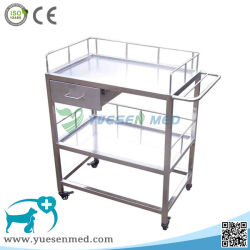 Medical Veterinary Clinic 304 Stainless Steel Surgical Instrument Cart