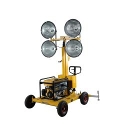 Mobile Portable LED Flood Towers Lights Manufacturers Signal/ Warning/Construction/Stadium Price with Gasoline
