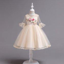 6188e5679096 Girl Flower Dresses Elegant Princess Dance Dress Kid Evening Gown for  Performance