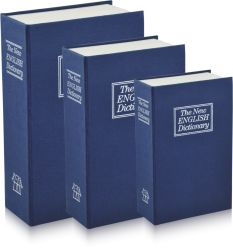 Portable Safety Book Safe Box Security Money Storage Key Box