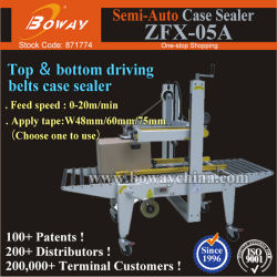 Semi Automatic Manual Tape Sealing Railway Airport Luggage Carton Case Box Strapping Machine