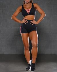 Bra and Shorts Set Women Track Suit Sport Ladies Sports Wear 2 PCS Fashion 2020 Apparel Rtm-151