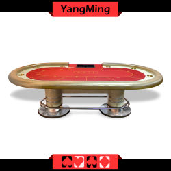 Oval Disk Feet Standard Factory Casino Poker Table 10 Players Ym Tb021